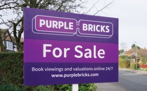 Purple Bricks For Sale Board