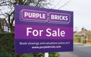 Purple Bricks For Sale Board